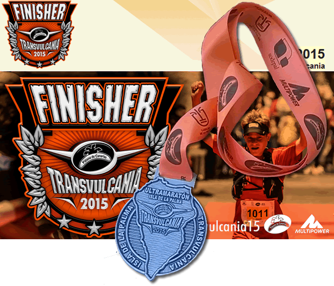 Transvulcania 2015 - finish certificate and medal