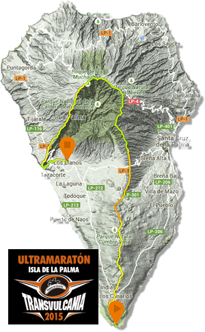 Transvulcania 2015 - course map