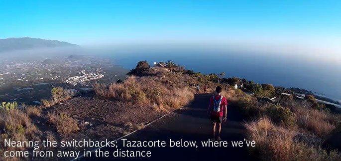 Transvulcania 2015 - nearing Tazacorte switchbacks