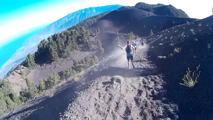 Transvulcania 2015 - descent from Las Deseadas