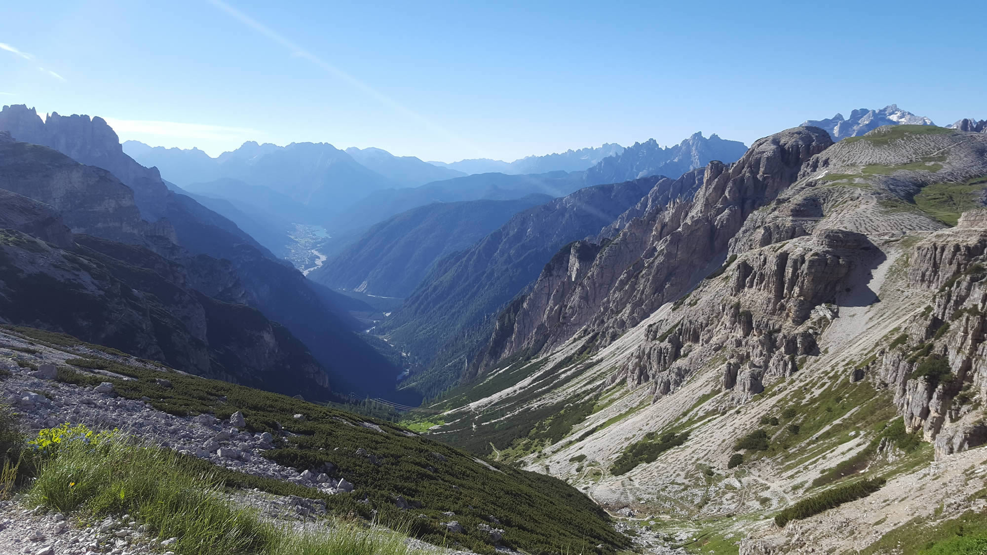View from Refugio Auronzo , Lavaredo Ultra Trail