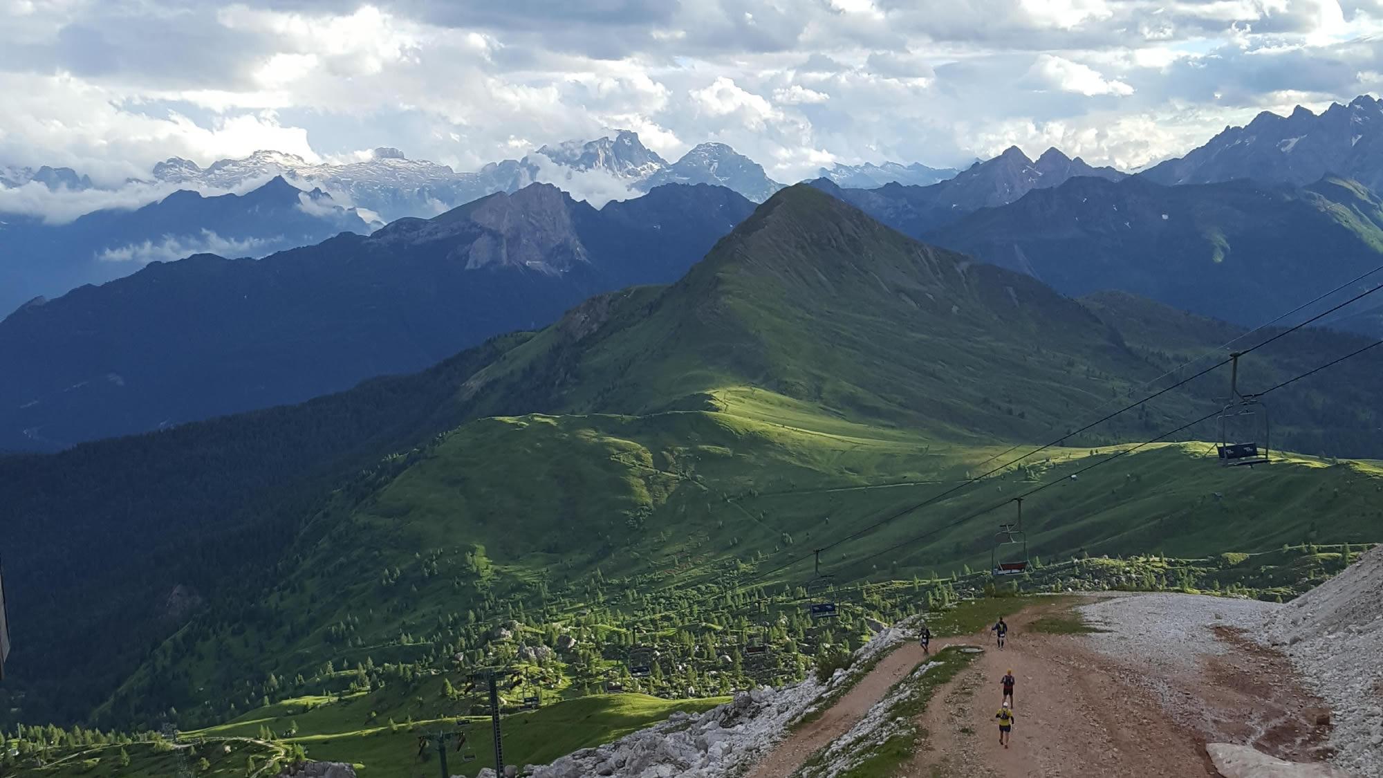 view from Refugio Averau, Lavaredo Ultra Trail