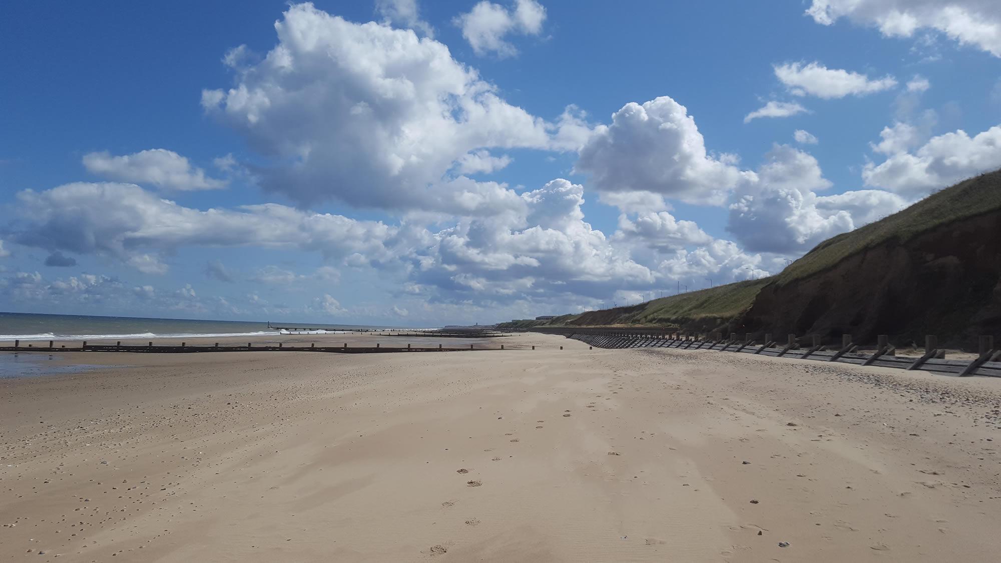 Bacton Sands - north norfolk coastal path