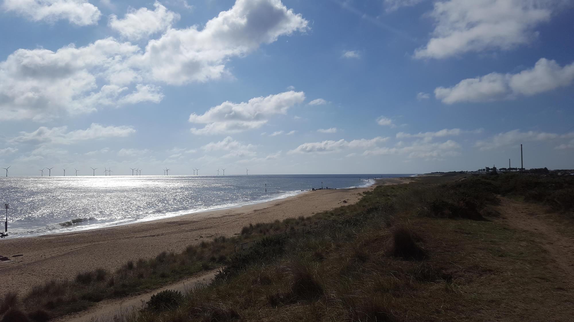 scroby sands wind farm, North Norfolk Coastal Path