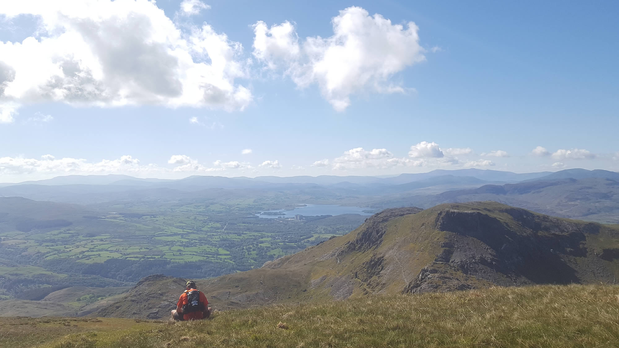 Dragons Back Race 2019 - view from Moelwyn Bach