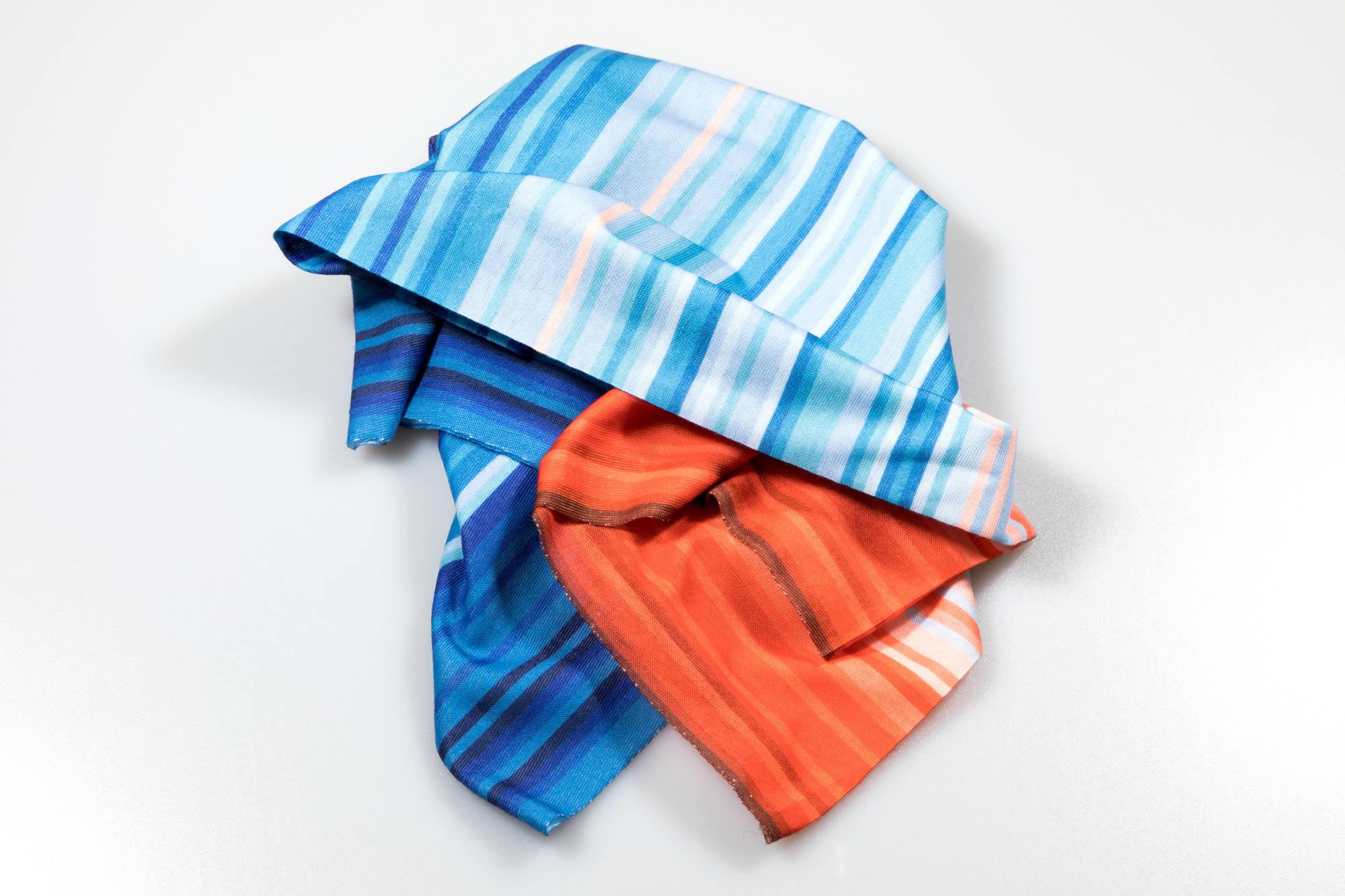 climate stripes bandana - scrunched shot