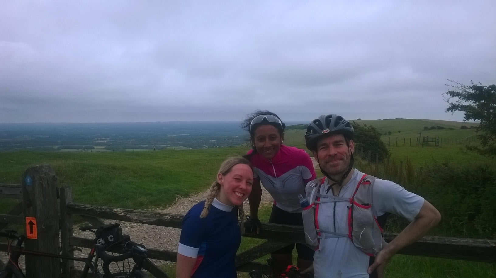 top of Ditchling Beacon on the South Downs Way