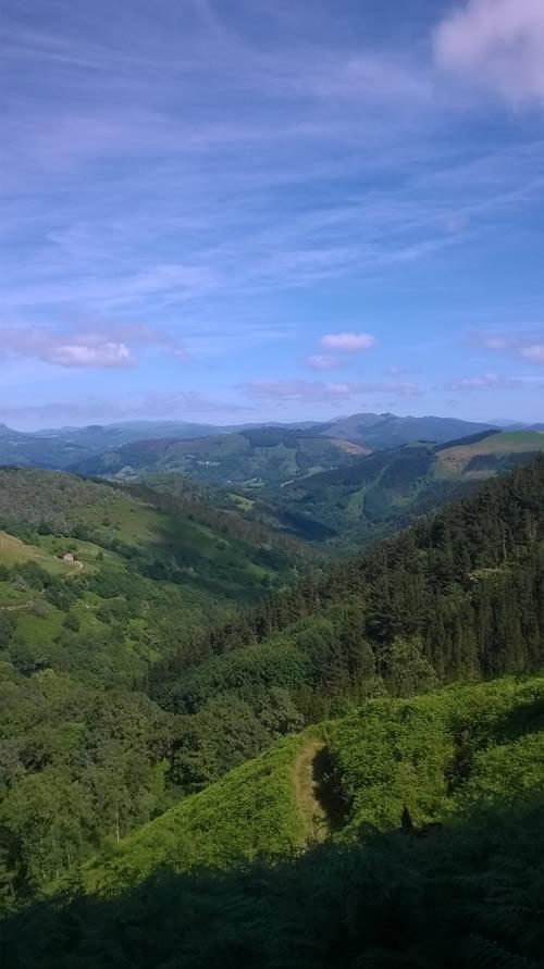 Lesaka trail scenery
