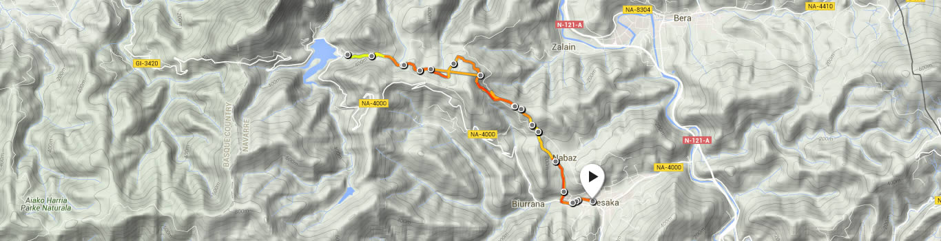 Leasaka trail route map