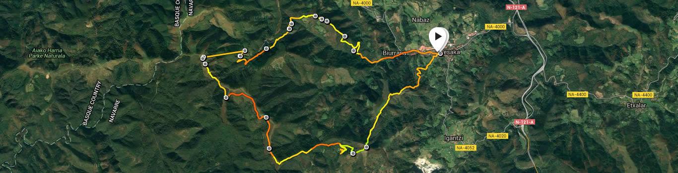 Lesaka circular trail route