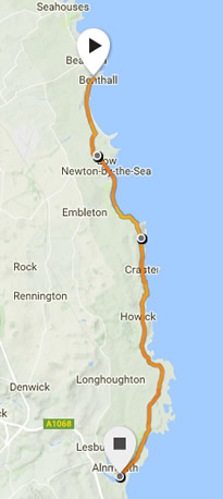 Northumberland Coastal race route