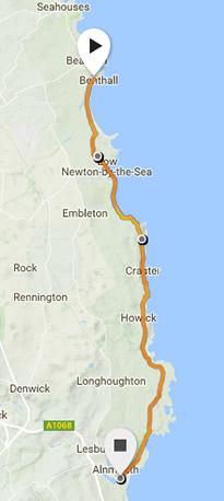 Northumberland Coastal race route